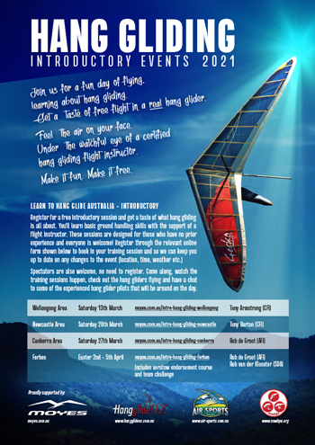Hang Gliding Events 2021